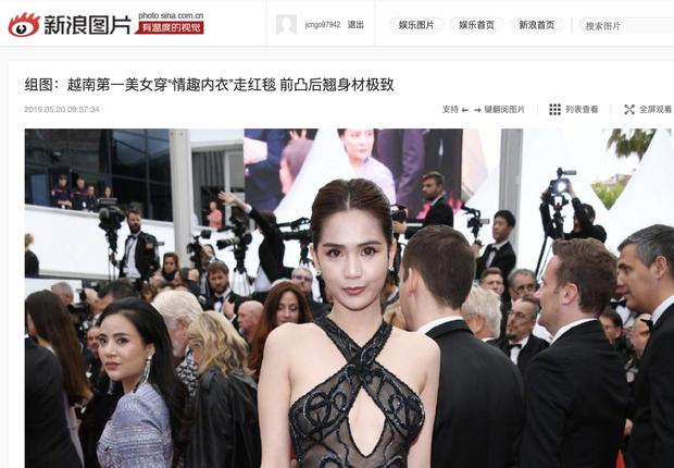 Đầu năm còn làm gái quê kín cổng cao tường, nay Ngọc Trinh đã làm loạn LHP Cannes phủ sóng MXH Trung với chức danh bất ngờ - Ảnh 6.