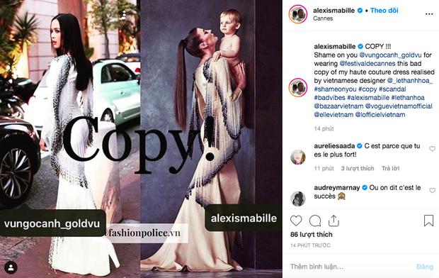 Vũ Ngọc Anh và NTK Lê Thanh Hòa bị nhà mốt cao cấp của Pháp bêu ngay trên Instagram vì nhái đồ - Ảnh 1.
