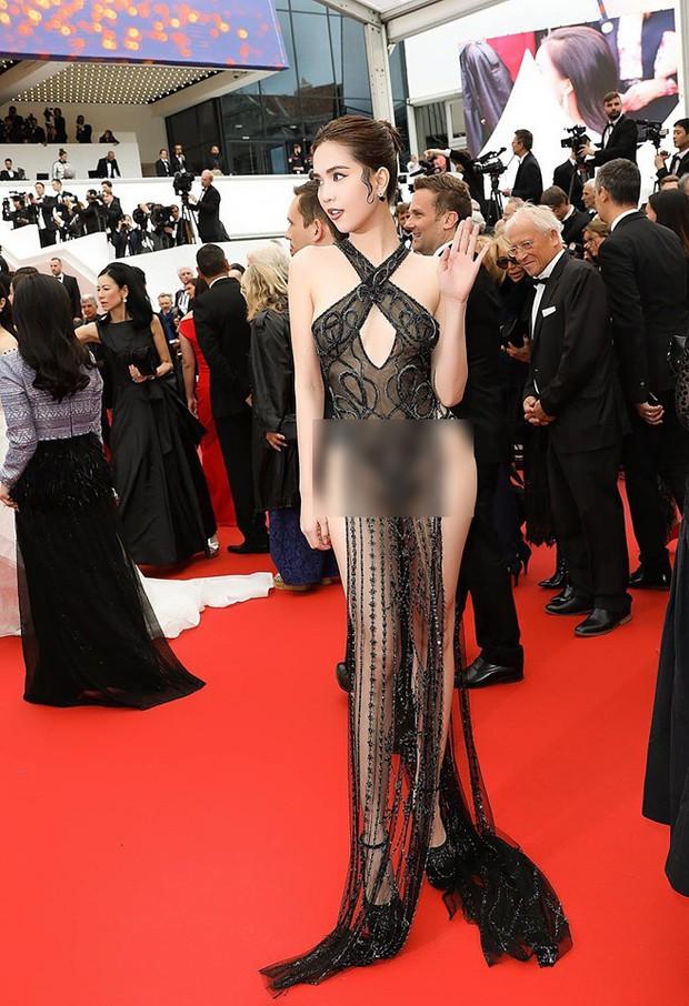 Đọ nhan sắc của Ngọc Trinh trên thảm đỏ Cannes khi chưa và đã qua phù thuỷ photoshop - Ảnh 7.