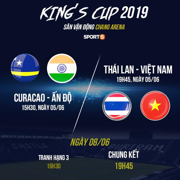 Lịch thi đấu Kings Cup 2019: Chờ thầy Park xóa dớp một thập kỷ không thắng Thái Lan - Ảnh 1.