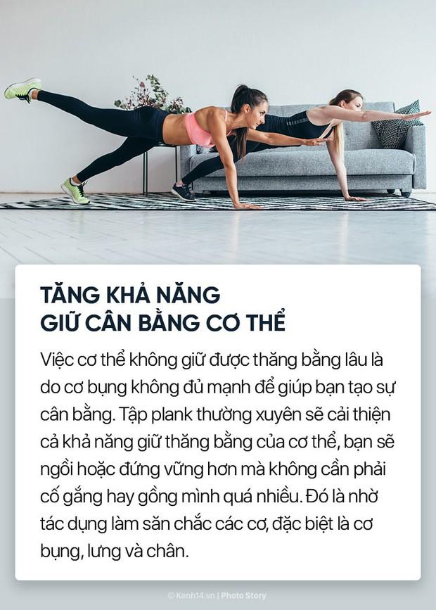 Không chỉ giúp săn chắc cơ bụng, đẩy bay mỡ thừa mà plank còn nhiều lợi ích tuyệt vời khác với cơ thể chúng ta - Ảnh 13.