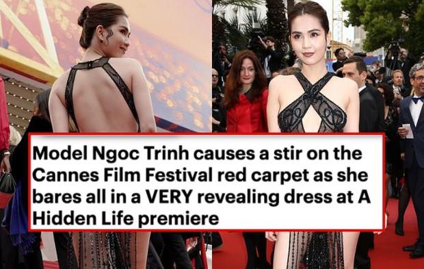 Ngọc Trinh lầy hội tự đăng loạt ảnh dân mạng quây váy, đội nón bảo hiểm che chắn kỹ càng cho mình trên thảm đỏ Cannes - Ảnh 1.