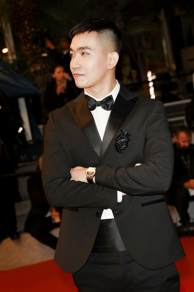 Không chọn ồn ào như Ngọc Trinh, Võ Cảnh lịch lãm xuất hiện trên thảm đỏ Cannes ngày thứ 6 - Ảnh 4.