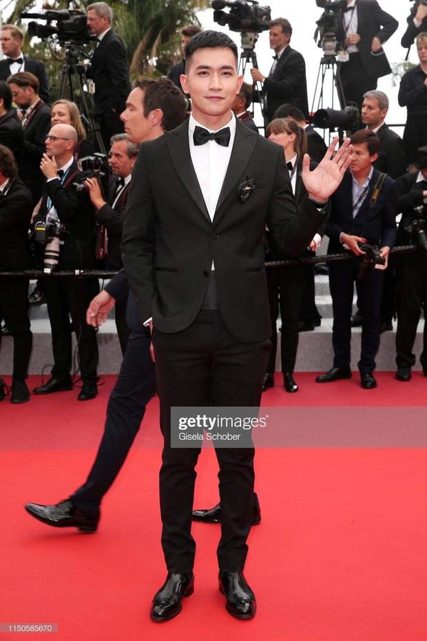 Không chọn ồn ào như Ngọc Trinh, Võ Cảnh lịch lãm xuất hiện trên thảm đỏ Cannes ngày thứ 6 - Ảnh 1.