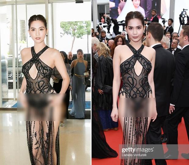 Đọ nhan sắc của Ngọc Trinh trên thảm đỏ Cannes khi chưa và đã qua phù thuỷ photoshop - Ảnh 9.