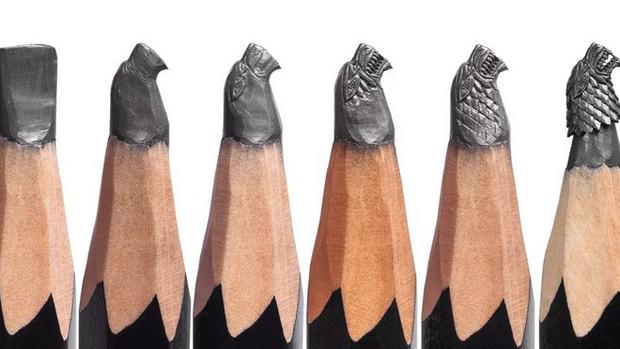 Thanh niên khéo tay ngồi đẽo ngòi bút chì thành bộ gia huy Game of Thrones siêu nhỏ - Ảnh 7.