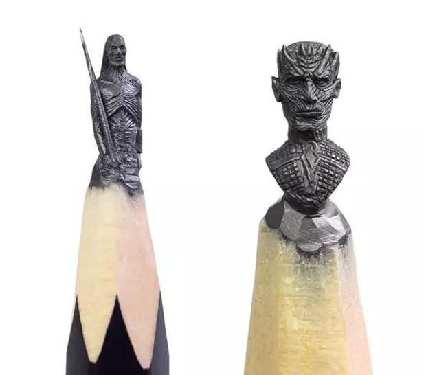 Thanh niên khéo tay ngồi đẽo ngòi bút chì thành bộ gia huy Game of Thrones siêu nhỏ - Ảnh 10.