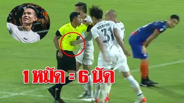 Tuyển thủ Thái Lan nhận hậu quả bẽ bàng sau pha đánh lén trọng tài: treo giò 8 trận, nộp phạt gần 90 triệu VNĐ, mất cơ hội đá Kings Cup - Ảnh 2.