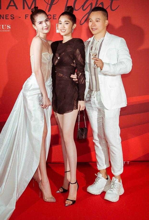 Ngọc Trinh xuất hiện gợi cảm, chọn mốt hở trên kín dưới sau màn khoe thân cực sốc trên thảm đỏ Cannes - Ảnh 6.