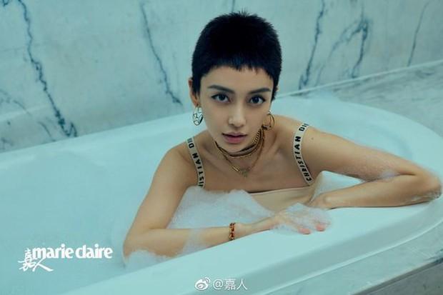 Minh tinh Cbiz và thử thách tóc siêu ngắn: Địch Lệ Nhiệt Ba xuống sắc, Châu Đông Vũ nhận mưa lời trầm trồ - Ảnh 4.