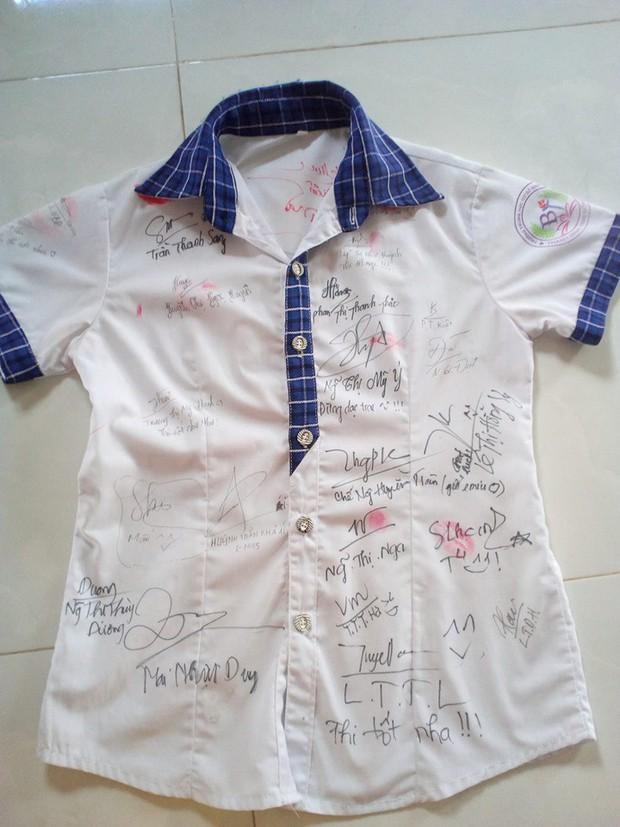 Dân mạng đua nhau share chiếc áo trắng thanh xuân với những dòng chữ chi chít của bạn bè cùng lớp, bạn còn giữ nó không? - Ảnh 13.