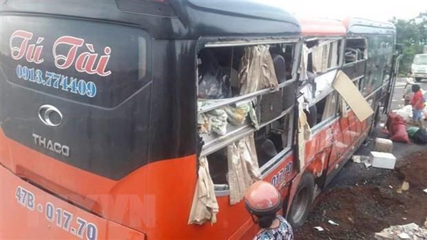 Gia Lai: Hai xe khách giường nằm tông nhau, bảy người bị thương - Ảnh 2.