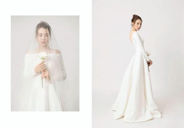 Đàm Thu Trang nhử fan với hình ảnh cô dâu xinh đẹp, NTK tiết lộ giá trị của thiết kế váy khiến ai cũng bất ngờ - Ảnh 6.