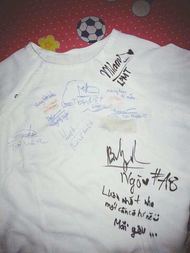 Dân mạng đua nhau share chiếc áo trắng thanh xuân với những dòng chữ chi chít của bạn bè cùng lớp, bạn còn giữ nó không? - Ảnh 12.