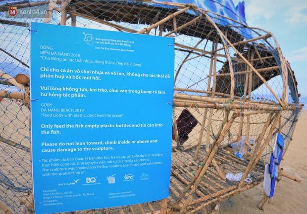 Nữ giáo viên ngoại quốc cùng sinh viên Đà Nẵng tạo nên chú cá Bống khổng lồ ăn rác thải nhựa trên bờ biển - Ảnh 3.