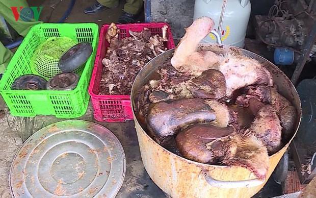 Hậu Giang phát hiện gần 1,5 tấn thịt lợn bốc mùi hôi thối - Ảnh 1.