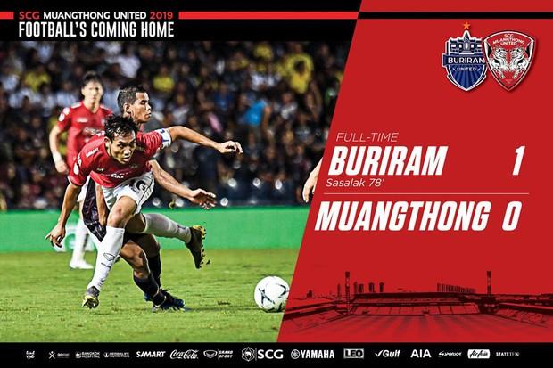 Buriram United 1-0 Muangthong United: Lọt lưới bởi bàn thua đáng tiếc, Văn Lâm bất lực nhìn chiến thắng thuộc về CLB của Xuân Trường - Ảnh 4.