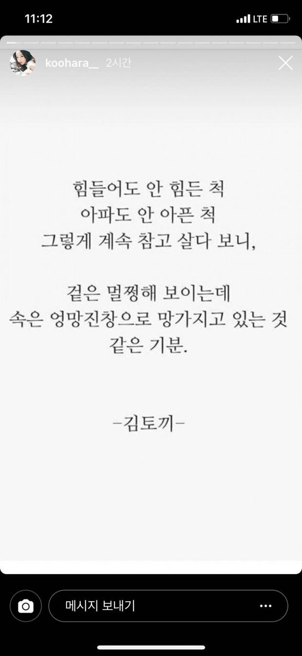 Netizen tìm lại những chia sẻ là nguyên nhân dẫn đến ý định tự tử đầy đau đớn của Goo Hara trong quá khứ - Ảnh 2.
