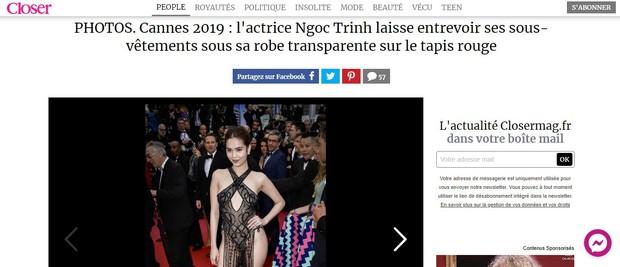 Truyền thông và netizen nước ngoài phản ứng gay gắt về Ngọc Trinh tại Cannes: Báo Anh, Pháp còn không căng bằng xứ Trung - Ảnh 2.