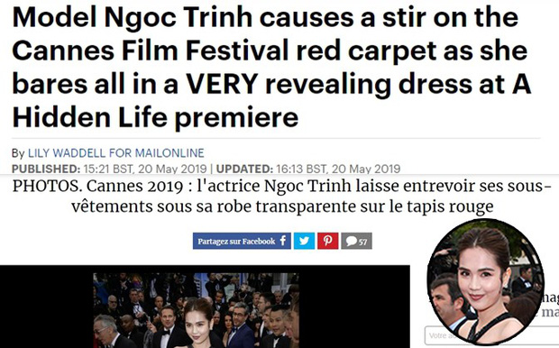 Truyền thông và netizen nước ngoài phản ứng gay gắt về Ngọc Trinh tại Cannes: Báo Anh, Pháp còn không căng bằng xứ Trung - Ảnh 4.