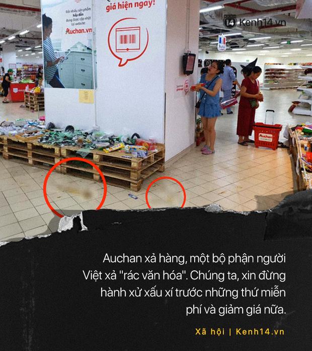 Khi người ta phũ phàng đáp lại lời tạm biệt của Auchan như cách mót hoa và hôi bia trên đường phố - Ảnh 12.