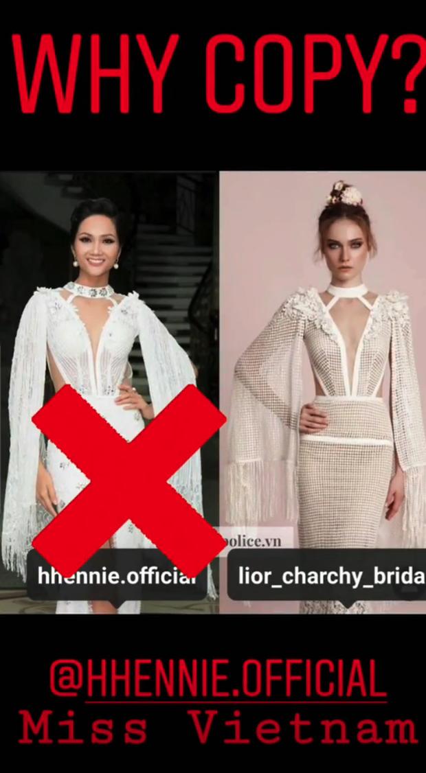 Trong khi NTK Việt im lặng, stylist của Hoa hậu HHen Niê mạnh dạn nhận yếu kém khi để cô mặc váy giống mẫu của NTK nước ngoài khác - Ảnh 1.