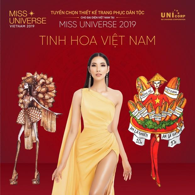 Sau bộ trang phục bánh mì quốc dân của H'Hen Niê, liệu Hoàng Thuỳ có cơ hội diện cà phê sữa và mì Quảng lên sân khấu? - Ảnh 3.