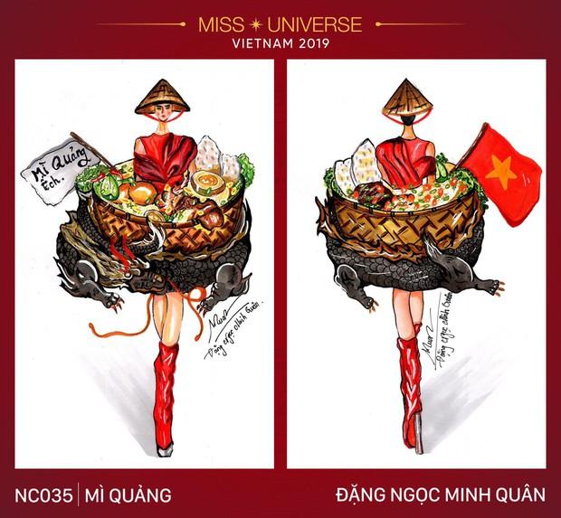 Sau bộ trang phục bánh mì quốc dân của H'Hen Niê, liệu Hoàng Thuỳ có cơ hội diện cà phê sữa và mì Quảng lên sân khấu? - Ảnh 4.