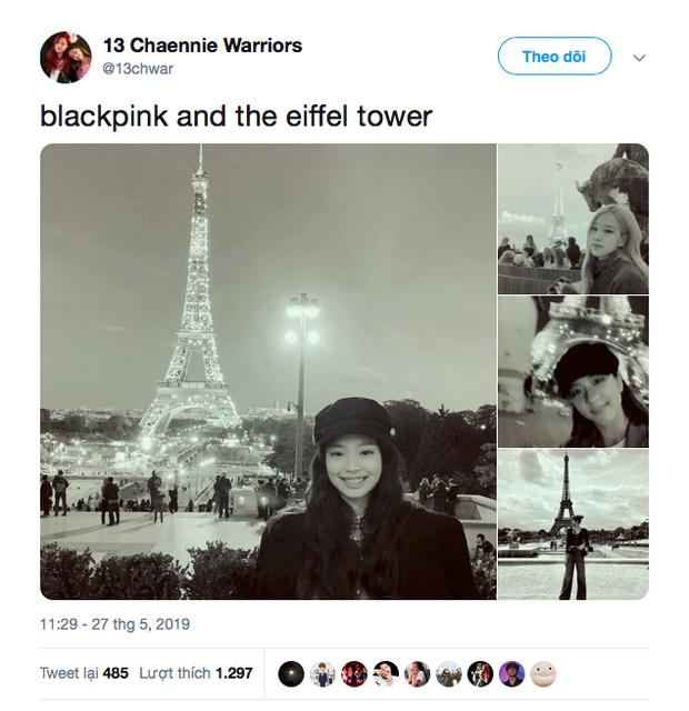 """3 """"mẩu"""" BLACKPINK đều có ảnh check-in lung linh ở tháp Eiffel, nhưng đến khi fan quay ra nhìn hình của Jisoo thì chỉ biết lắc đầu ngán ngẩm - Ảnh 8."""