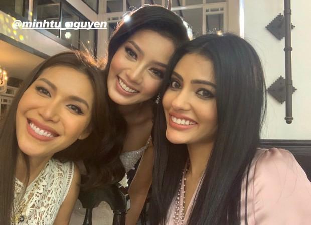 Minh Tú sang tận Philippines dự đám cưới cô bạn từng cho mượn váy dù là đối thủ tại Miss Supranational 2018 - Ảnh 1.