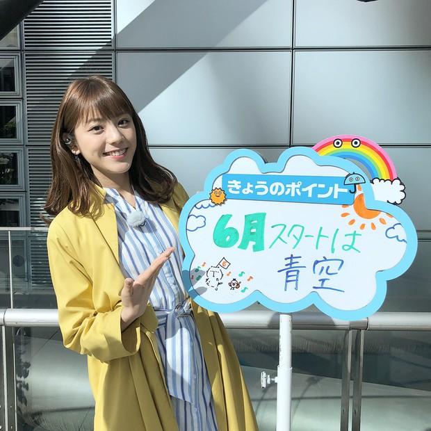 MC Nhật Bản được mệnh danh là nữ thần thời tiết: Cao 1m71, sở hữu nét đẹp khó tìm - Ảnh 1.