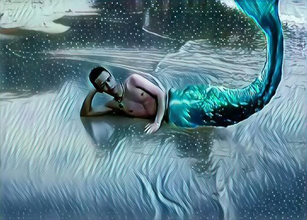 Nhờ dân mạng ghép đuôi cho giống nam thần tiên cá, chàng trai nhận những bức ảnh cười không nhặt được miệng - Ảnh 4.