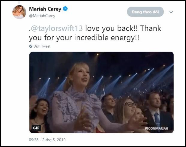 Nhìn xem Mariah Carey phản ứng thế nào trước hành động fangirl đáng yêu của Taylor Swift này! - Ảnh 5.