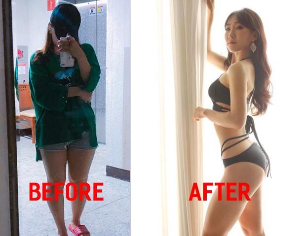Cô gái Hàn Quốc gây bất ngờ với màn Before - After quá đỉnh, giảm tới 12kg và lột xác hoàn toàn - Ảnh 1.