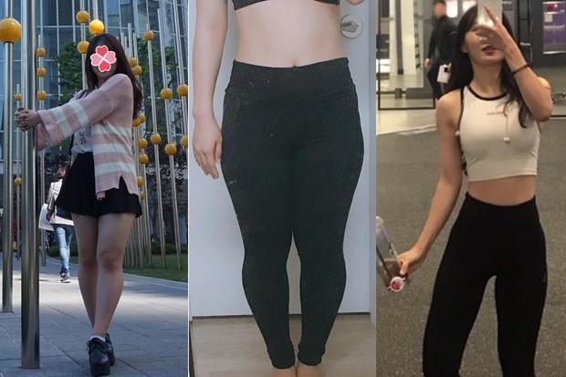 Cô gái Hàn Quốc gây bất ngờ với màn Before - After quá đỉnh, giảm tới 12kg và lột xác hoàn toàn - Ảnh 2.