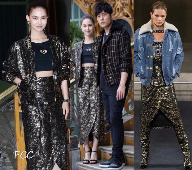 Không quá cầu kỳ nhưng hai vợ chồng Châu Kiệt Luân và Côn Lăng vẫn chiếm trọn spotlight tại show Chanel - Ảnh 3.