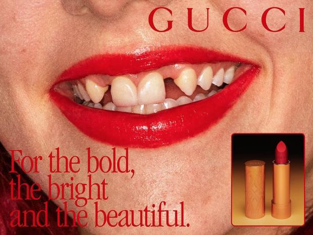 Bạn không nhìn nhầm, đây là ảnh quảng cáo son mới của Gucci! - Ảnh 1.