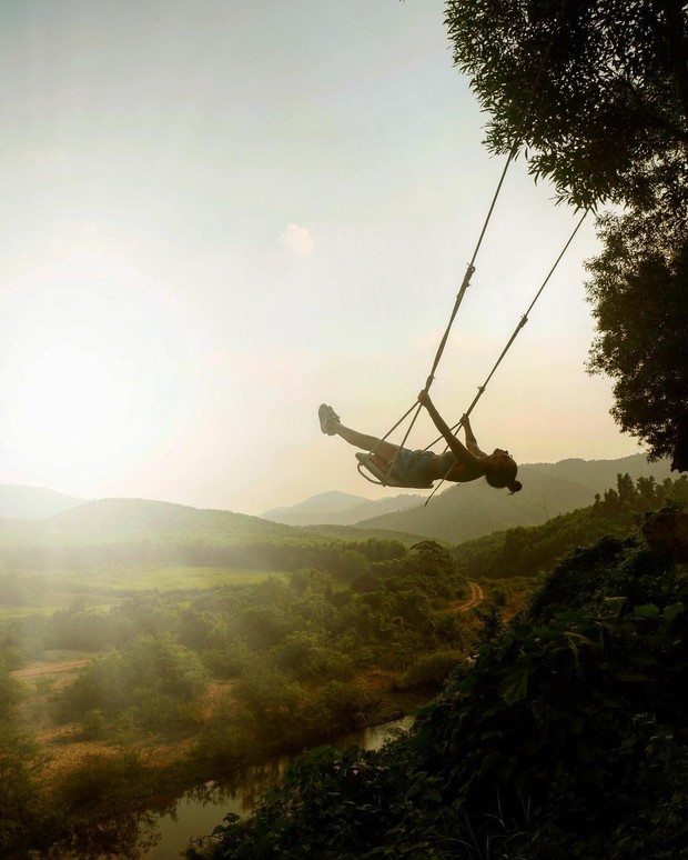 """Cần gì đến Bali, tại Việt Nam cũng có xích đu gỗ view trọn thung lũng tha hồ cho bạn """"thót tim"""" bay lượn! - Ảnh 15."""