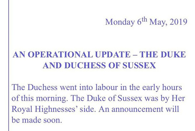 Cung điện hoàng gia xác nhận: Meghan đã sinh con đầu lòng, giới tính em bé nằm ngoài dự đoán của người hâm mộ - Ảnh 1.