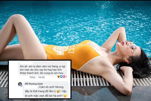 Bị chê mặc áo tắm trông thiếu lịch thiệp, Phương Oanh đáp trả: Bình thường mặc vest để bơi hả - Ảnh 2.