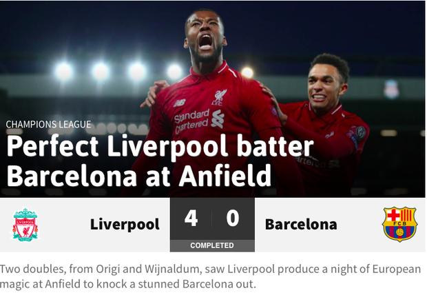 Báo chí thế giới ngả mũ thán phục, hết lời ca ngợi màn ngược dòng thần thánh của Liverpool - Ảnh 3.