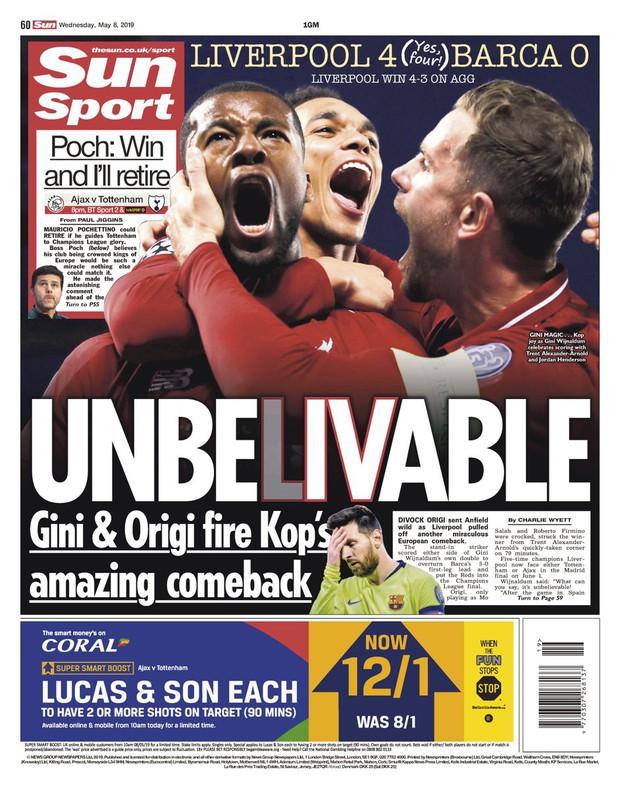 Báo chí thế giới ngả mũ thán phục, hết lời ca ngợi màn ngược dòng thần thánh của Liverpool - Ảnh 9.