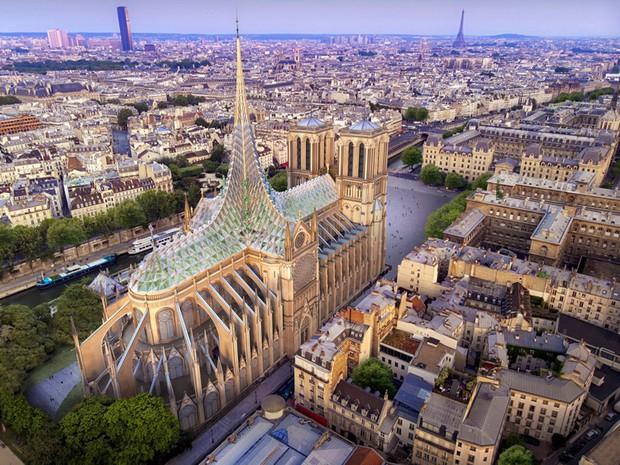 Ý tưởng sửa mái Nhà thờ Đức Bà Paris thành nhà kính khổng lồ giữa không trung được đón nhận nhiệt liệt - Ảnh 1.