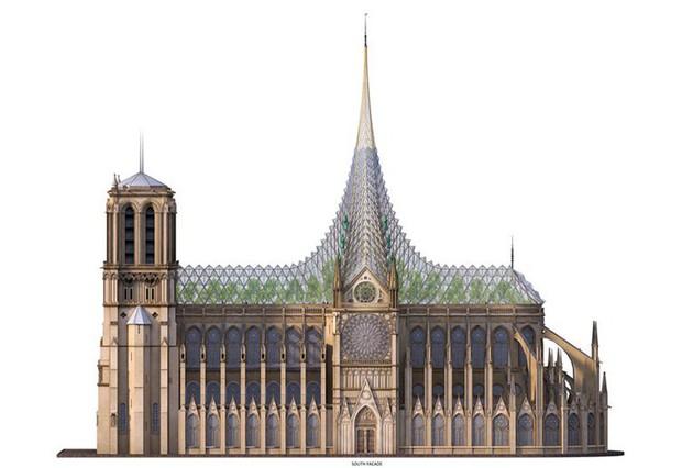Ý tưởng sửa mái Nhà thờ Đức Bà Paris thành nhà kính khổng lồ giữa không trung được đón nhận nhiệt liệt - Ảnh 4.