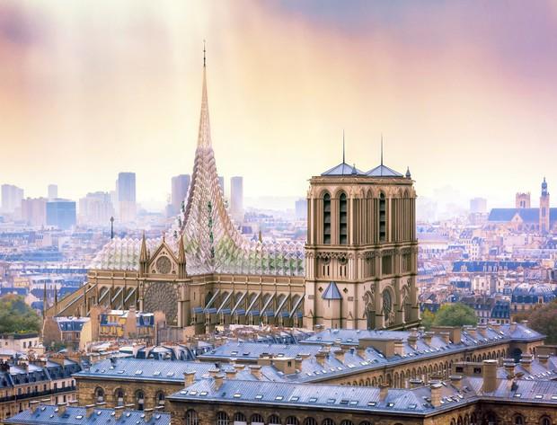 Ý tưởng sửa mái Nhà thờ Đức Bà Paris thành nhà kính khổng lồ giữa không trung được đón nhận nhiệt liệt - Ảnh 2.