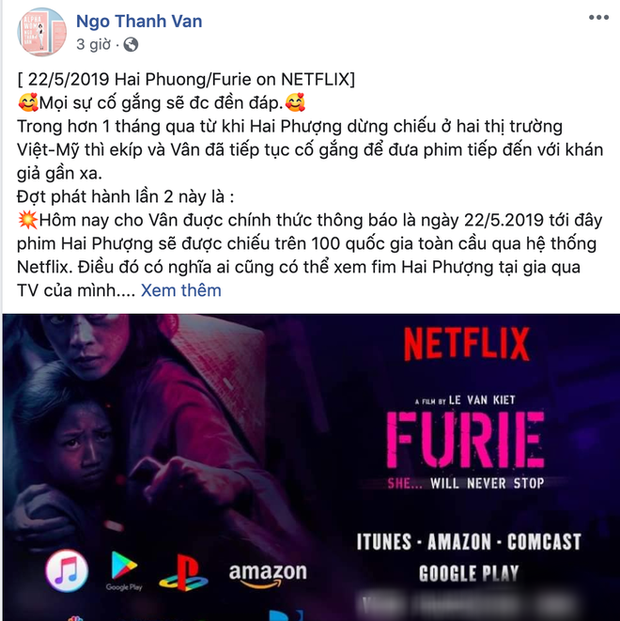 Ngô Thanh Vân xác nhận Hai Phượng chính thức lên kệ Netflix, netizen hỏi: Ủa chị quên phát hành ở Trung Quốc rồi sao? - Ảnh 1.