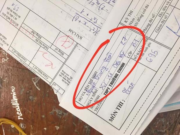 Tổng hợp những tình huống mất não của học sinh trong phòng thi, run đến nỗi quên luôn tên mình! - Ảnh 1.
