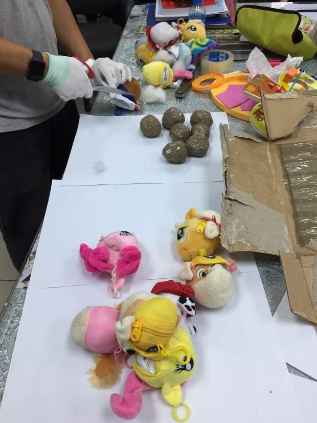 Thu giữ gần 8kg ma tuý được giấu cực kỳ tinh vi trong thú nhồi bông, vách thùng carton từ châu Âu về Việt Nam - Ảnh 2.