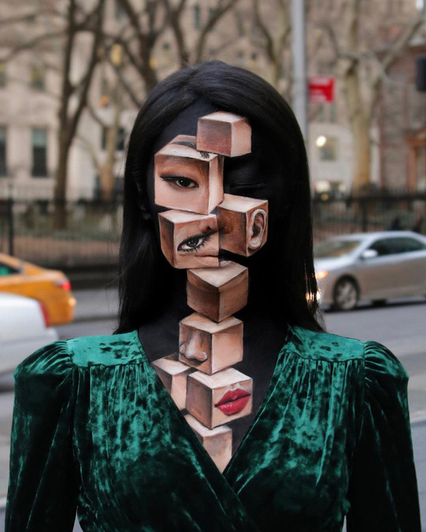 Bối rối với những khuôn mặt được trang điểm theo phong cách 3D đầy lú lẫn - Ảnh 3.