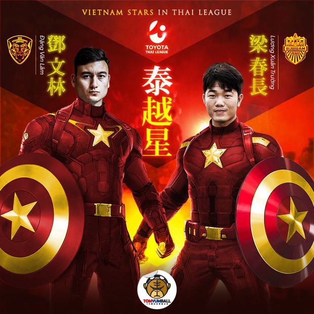 Fan Trung Quốc hô biến Quang Hải thành Captain Việt Nam đấu Iron man Thái Lan cực chất - Ảnh 2.